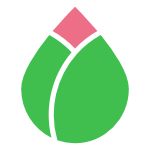 Simple graphic of a lotus bud